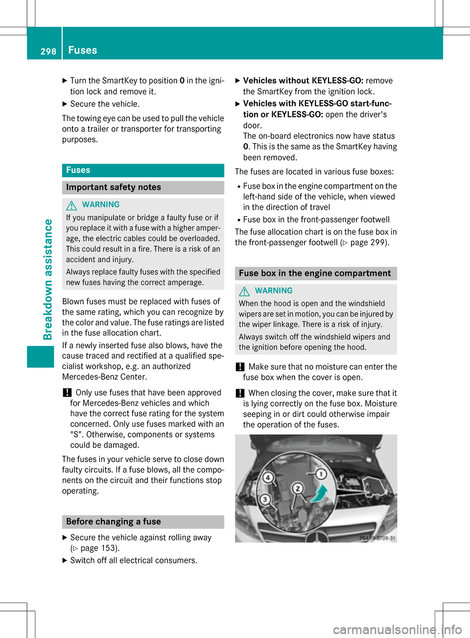 hight resolution of mercedes benz b class electric 2016 w246 owners manual page 300
