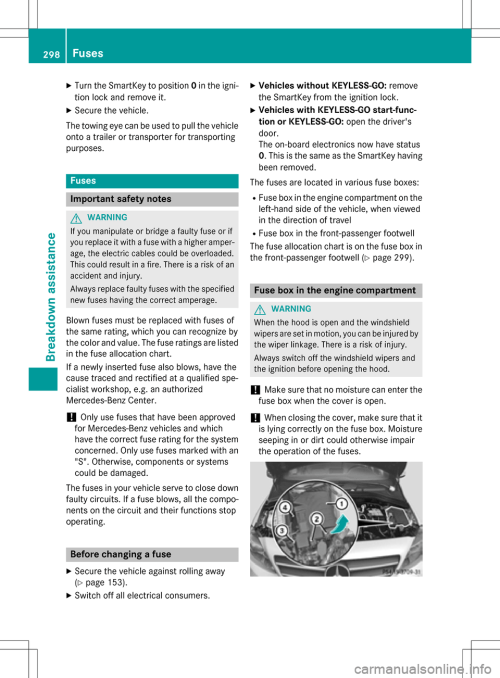 small resolution of mercedes benz b class electric 2016 w246 owners manual page 300