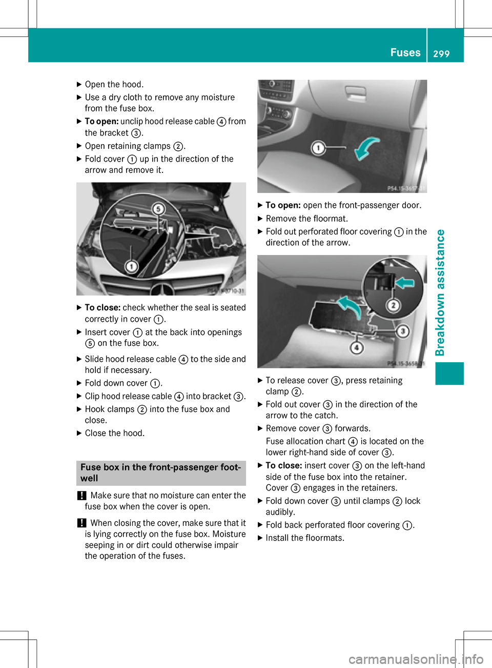 medium resolution of mercedes benz b class electric 2016 w246 owners manual page 301