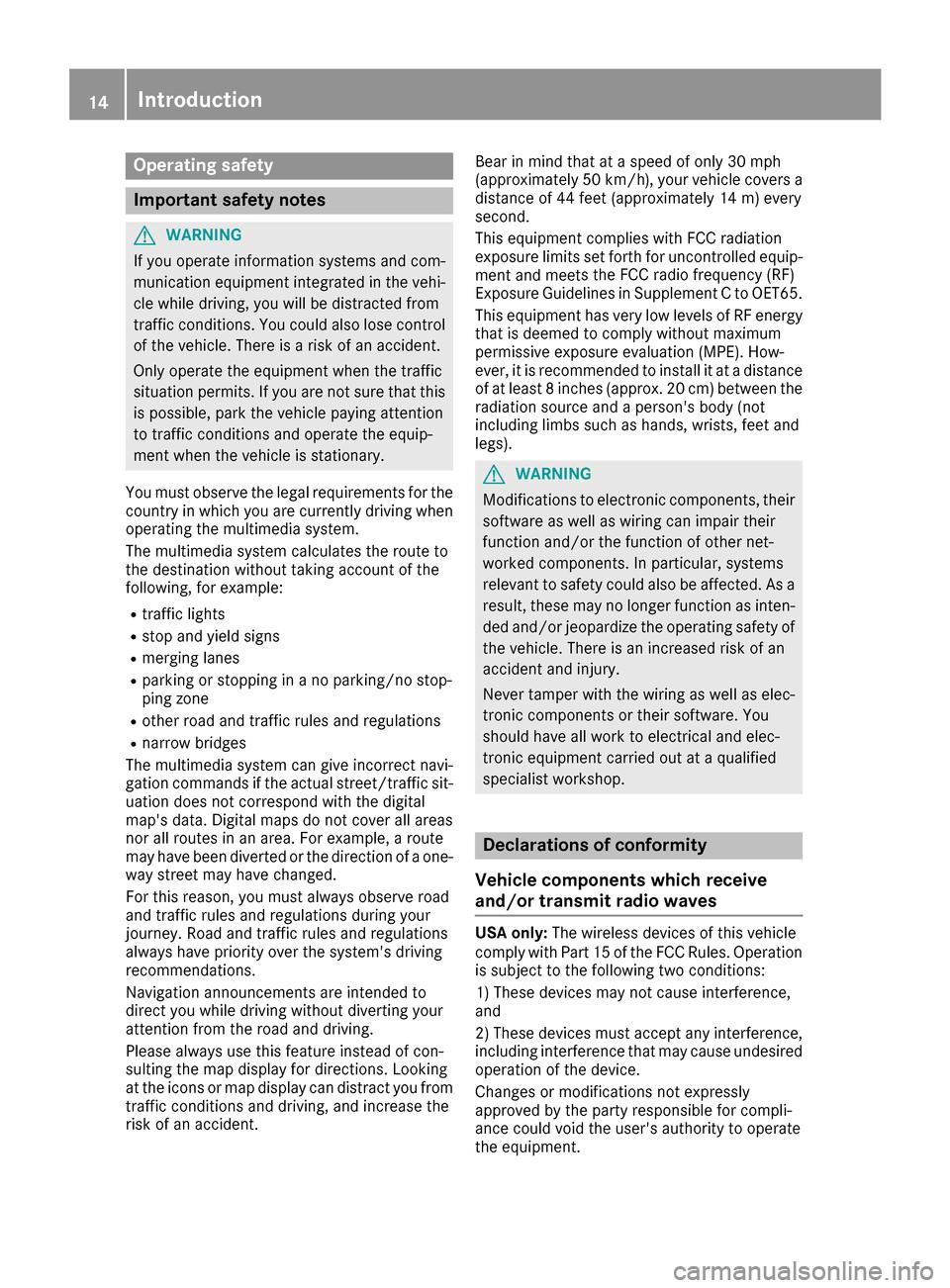 MERCEDES-BENZ C-Class 2017 W205 Comand Manual