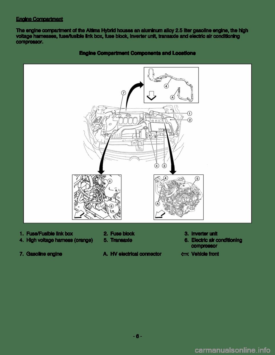 NISSAN ALTIMA HYBRID 2008 L32A / 4.G Dismantling Guide (22