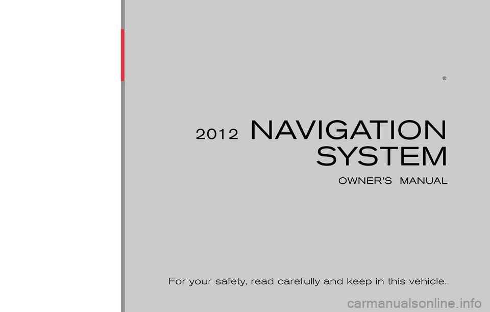 NISSAN CUBE 2012 3.G LC Navigation Manual