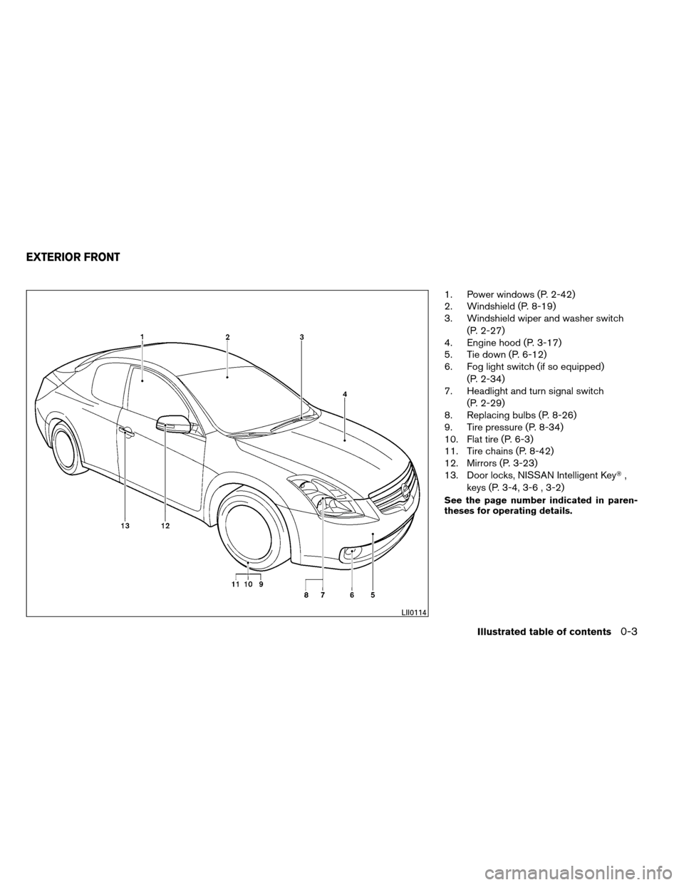 NISSAN ALTIMA COUPE 2013 D32 / 4.G Owners Manual