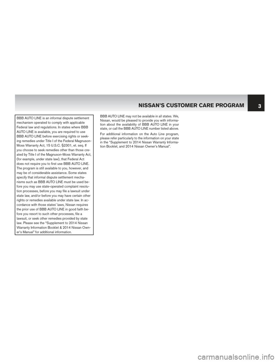 NISSAN JUKE 2014 F15 / 1.G Warranty Booklet