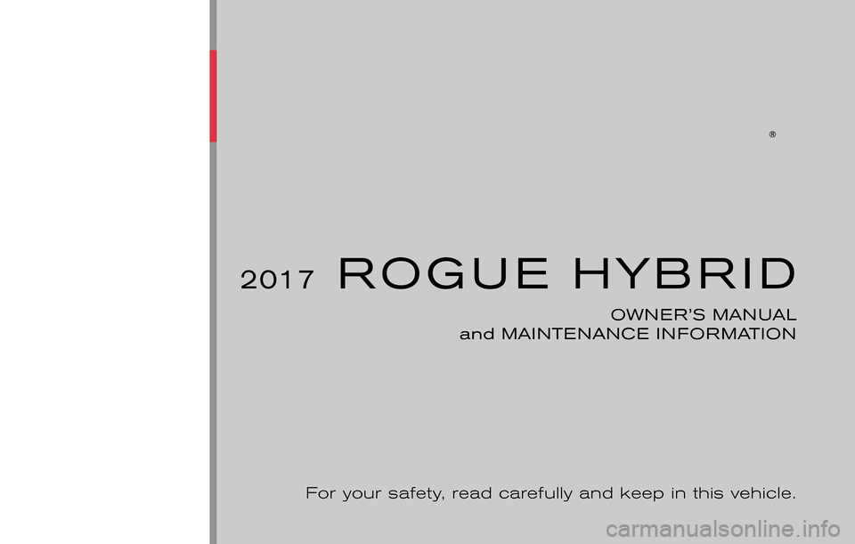NISSAN ROGUE HYBRID 2017 2.G Owners Manual