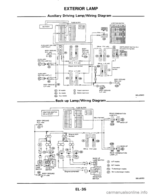 small resolution of w960 567 34 nissan 300zx 1984 z31 electrical system workshop manual z31 wiring diagram