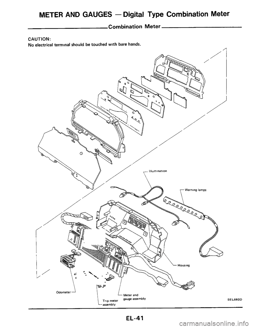 NISSAN 300ZX 1984 Z31 Electrical System Workshop Manual