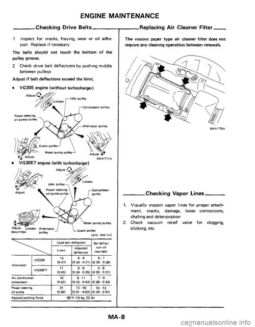 small resolution of nissan 300zx 1984 z31 maintenance workshop manual 300zx alternator 1984 300zx belt diagram