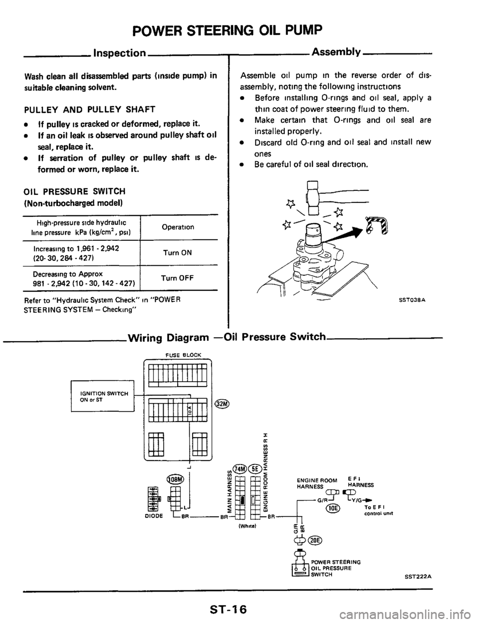 medium resolution of nissan 300zx 1984 z31 steering system workshop manual page 16