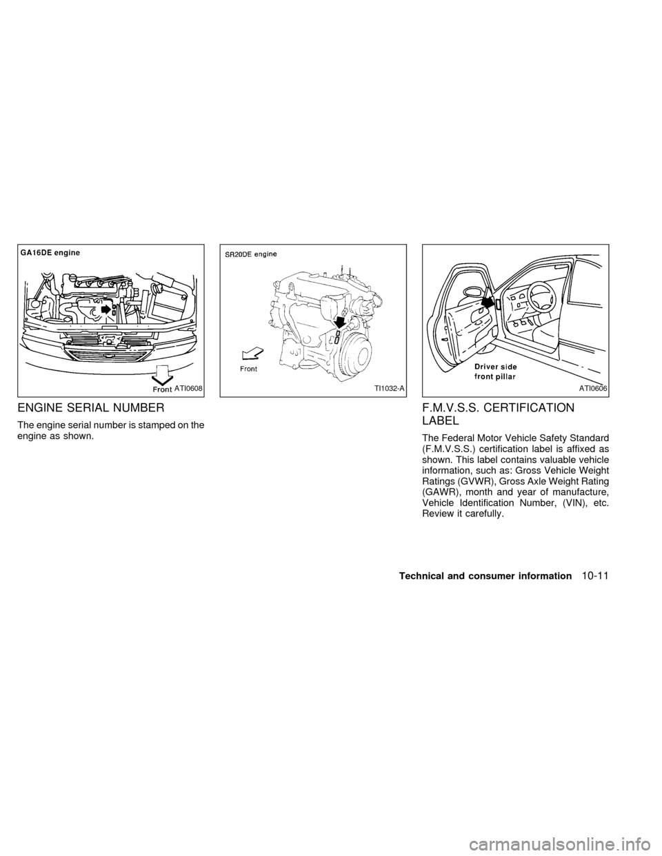 NISSAN SENTRA 1998 B14 / 4.G Owners Manual