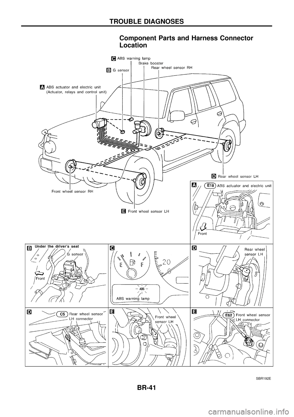 NISSAN PATROL 1998 Y61 / 5.G Brake System Workshop Manual