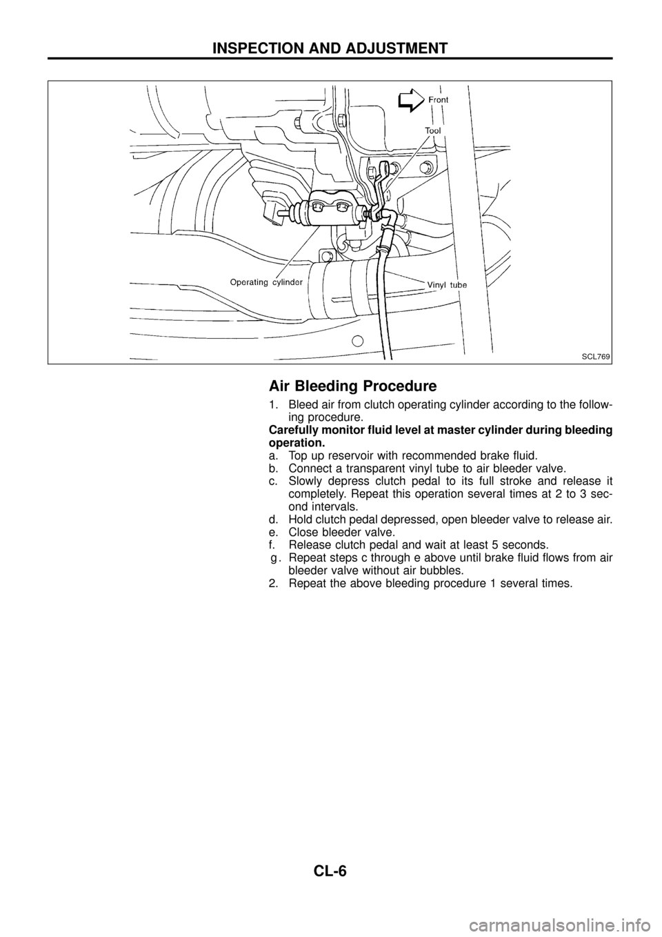 NISSAN PATROL 1998 Y61 / 5.G Clutch Workshop Manual