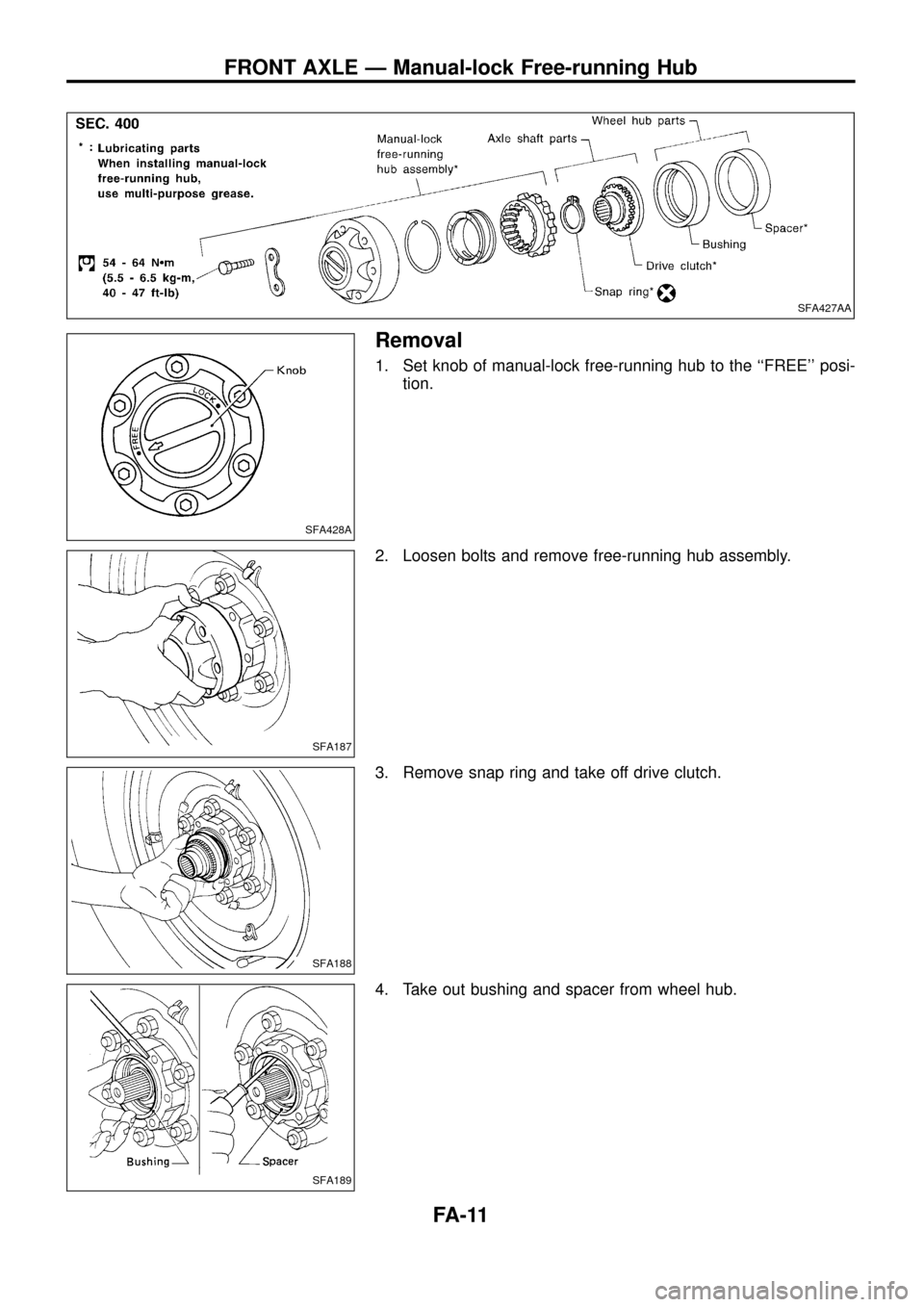 NISSAN PATROL 1998 Y61 / 5.G Front Suspension Workshop Manual