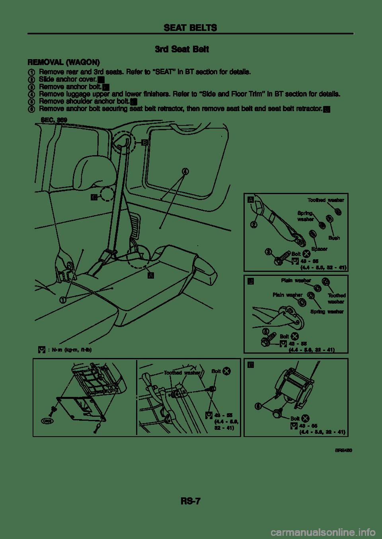 NISSAN PATROL 1998 Y61 / 5.G Restraint System Workshop