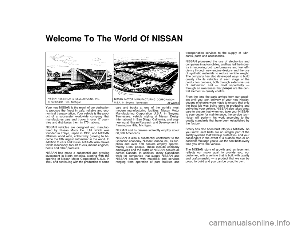 NISSAN MAXIMA 1999 A32 / 4.G Owners Manual