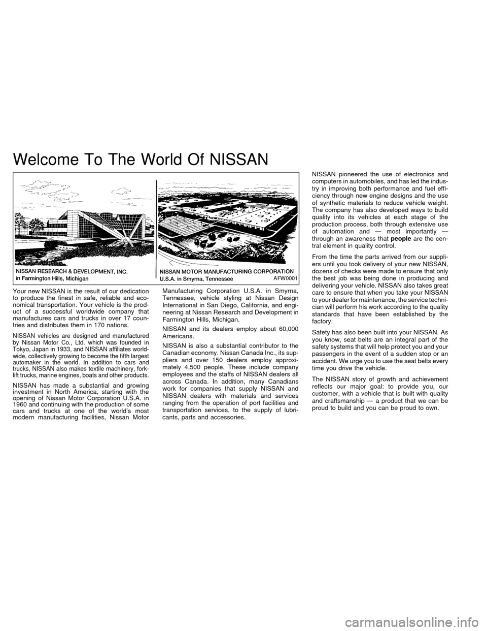 NISSAN QUEST 1999 V41 / 2.G Owners Manual