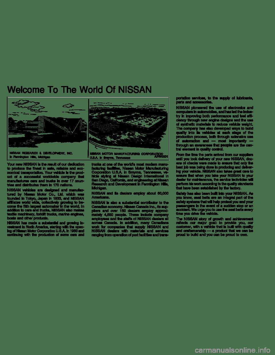 NISSAN SENTRA 1999 B14 / 4.G Owners Manual