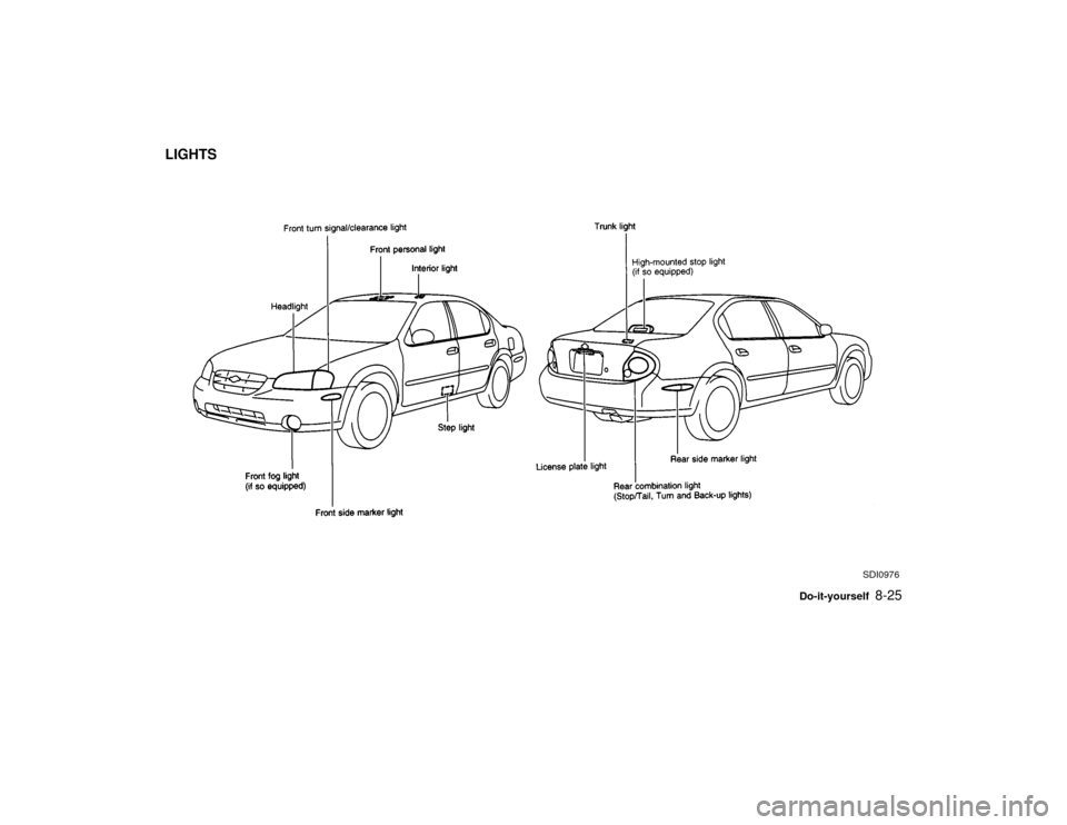 NISSAN MAXIMA 2000 A33 / 5.G Owners Manual