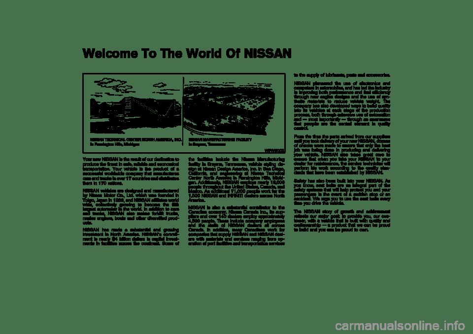 NISSAN 350Z 2004 Z33 Owners Manual