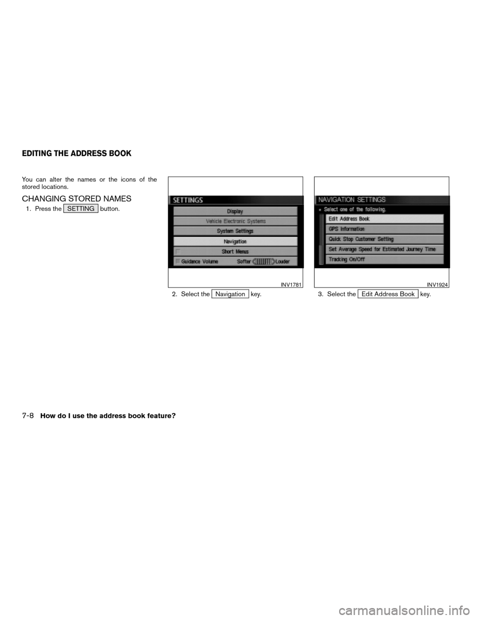 NISSAN MAXIMA 2004 A34 / 6.G Navigation Manual