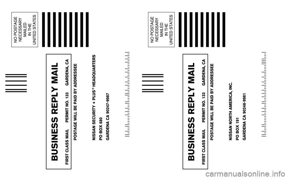 NISSAN ARMADA 2006 1.G Warranty Booklet