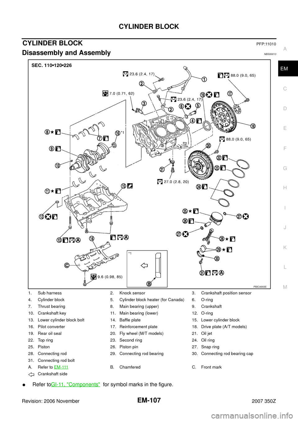 NISSAN 350Z 2007 Z33 Engine Mechanical Workshop Manual