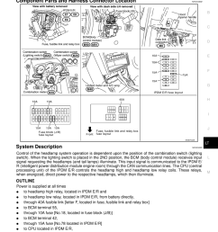 nissan 350z 2007 z33 lighting system workshop manual [ 960 x 1358 Pixel ]