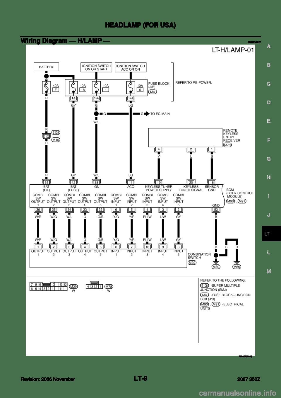 NISSAN 350Z 2007 Z33 Lighting System Workshop Manual