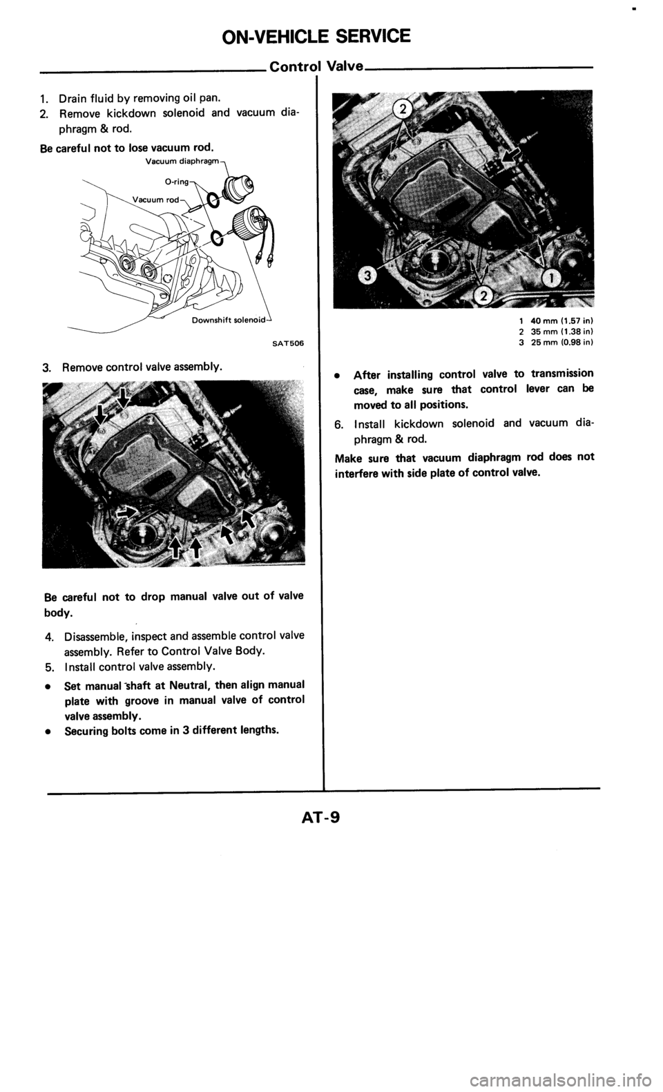 NISSAN 300ZX 1985 Z31 Automatic Transmission Workshop Manual