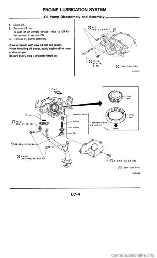 small resolution of nissan 300zx 1986 z31 engine lubrication and cooling system workshop manual