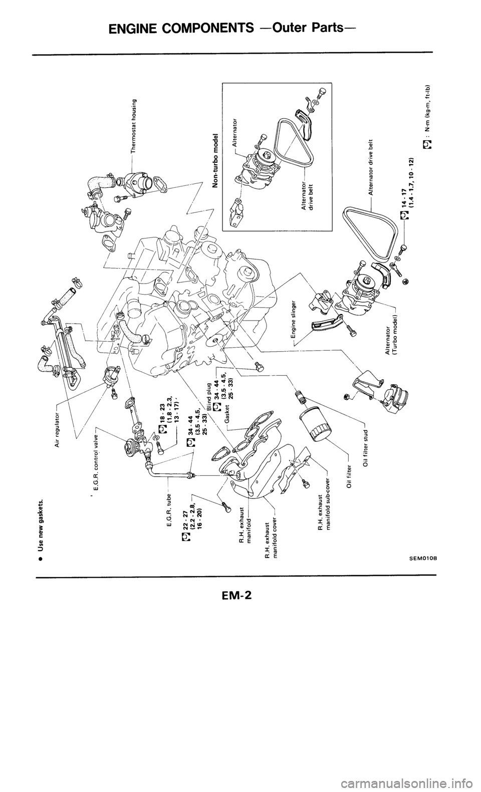 NISSAN 300ZX 1986 Z31 Engine Mechanical Workshop Manual