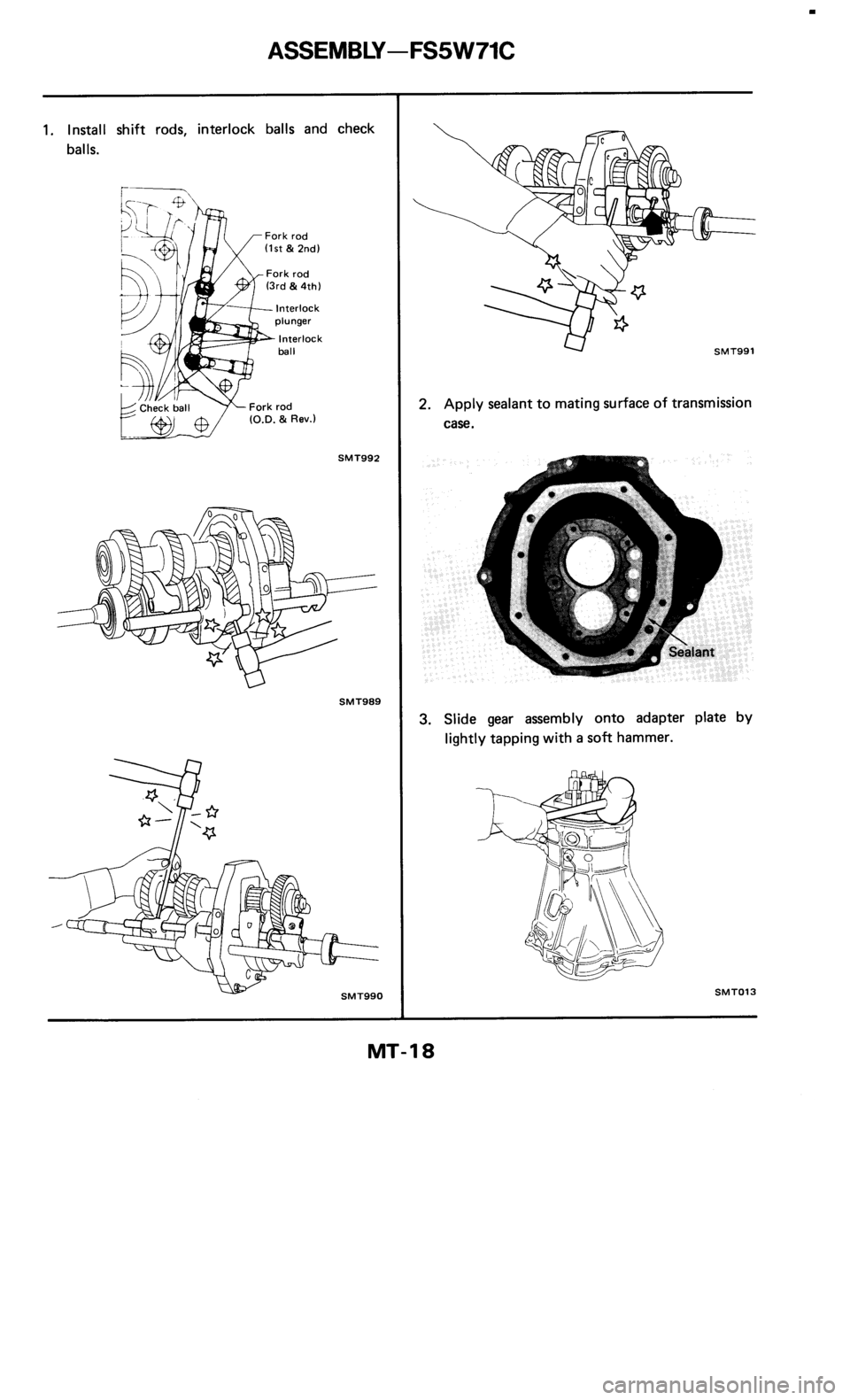 NISSAN 300ZX 1985 Z31 Manual Transmission Workshop Manual