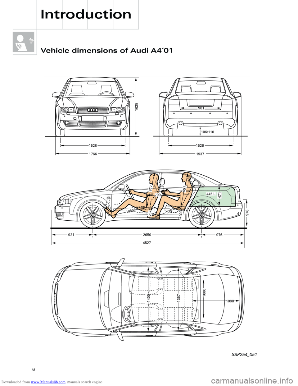 AUDI A4 2001 B5 / 1.G Technical Features Design And Function