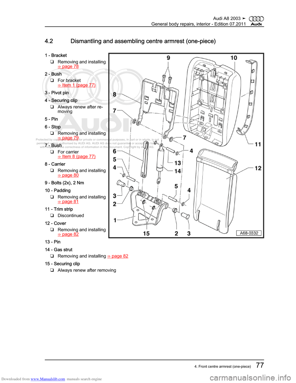 AUDI A8 2003 D3 / 2.G General System Manual Online (401 Pages)
