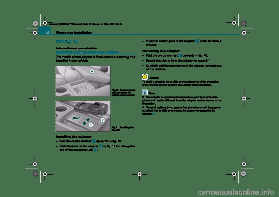 AUDI A4 2008 B8 / 4.G Infotainment MMI Operating Manual