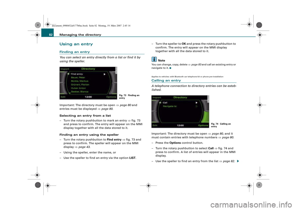 AUDI A6 2008 C6 / 3.G Infotainment MMI Operating Manual