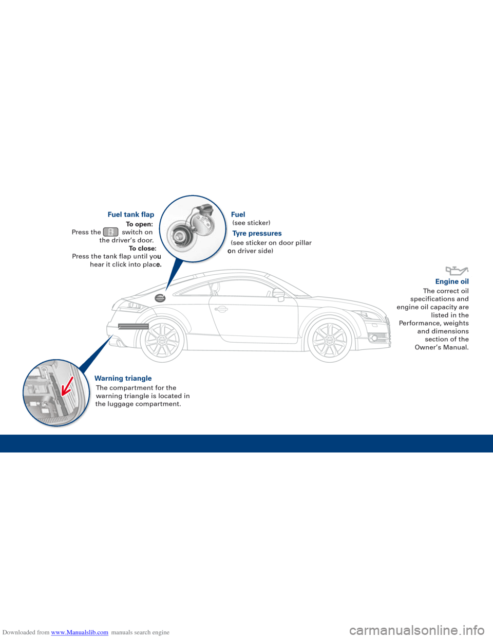 AUDI TT 2010 8J / 2.G Quick Reference Guide