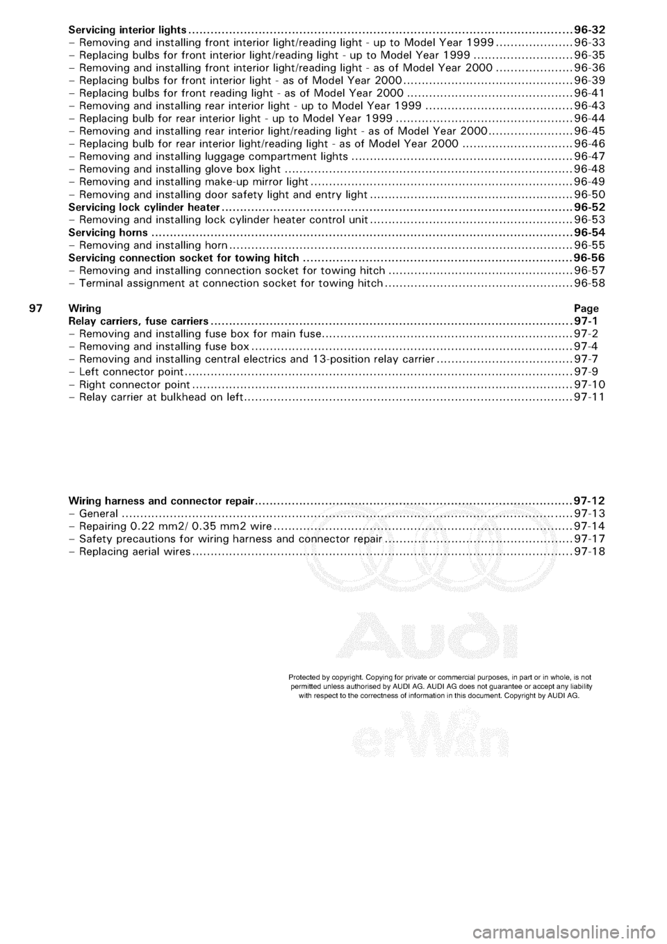 hight resolution of audi a3 1998 8l 1 g electrical system workshop manual