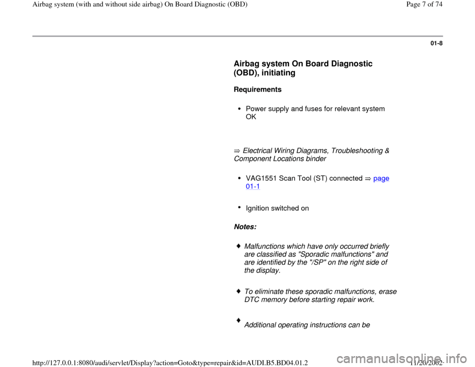 airbag wiring diagram audi a4 pioneer dvc sub 1998 b5 1 g service obd workshop manual page 7