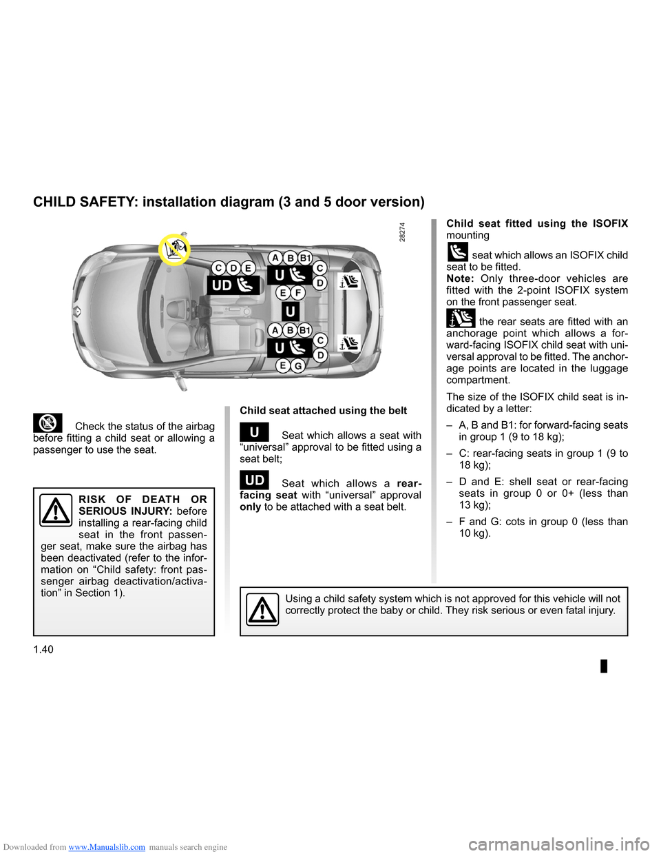 clio 2 airbag wiring diagram metal halide ballast renault 2009 x85 3 g owners manual page 46