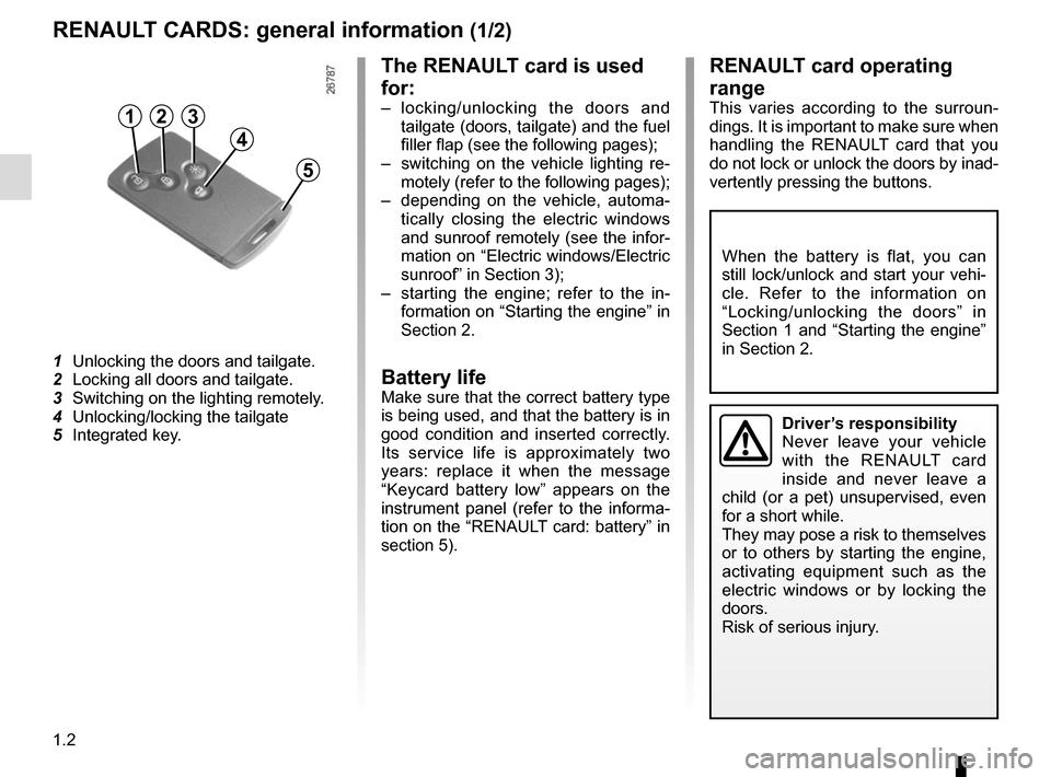 RENAULT GRAND SCENIC 2015 J95 / 3.G Owners Manual