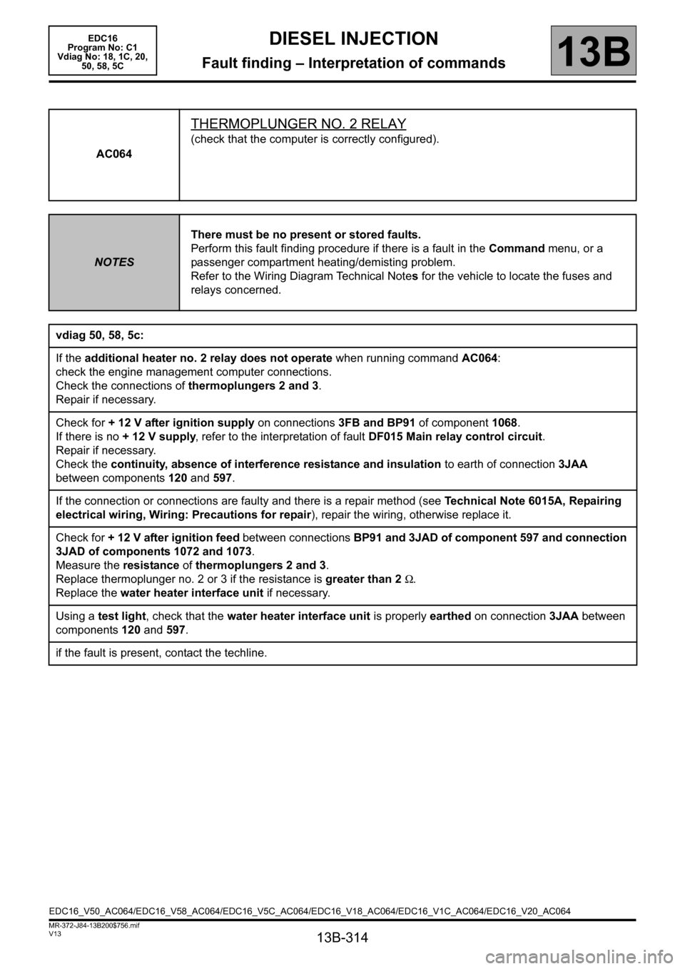 medium resolution of renault scenic 2011 j95 3 g engine and peripherals edc16 workshop manual page
