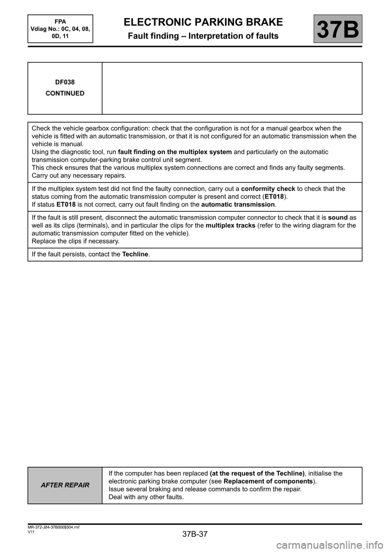 medium resolution of renault scenic 2013 j95 3 g electronic parking brake workshop manual page 37
