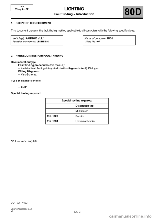 small resolution of renault kangoo 2013 x61 2 g lighting workshop manual