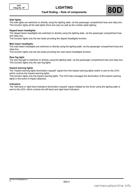 medium resolution of renault kangoo 2013 x61 2 g lighting workshop manual page 4