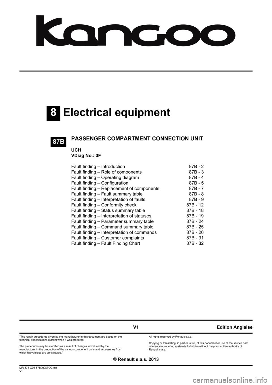 medium resolution of renault kangoo 2013 x61 2 g passenger comparment connection unit workshop manual