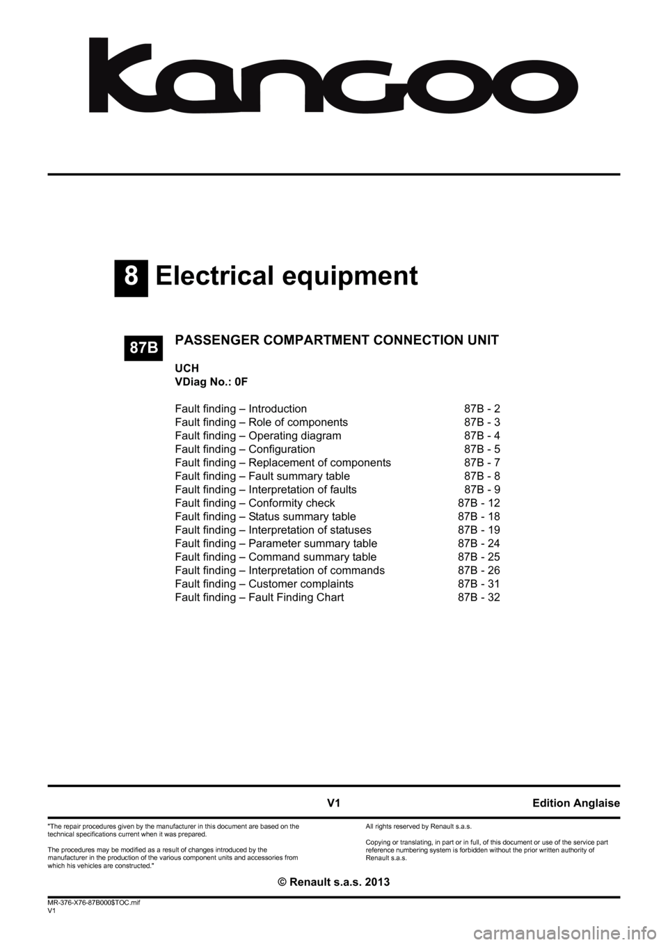 hight resolution of renault kangoo 2013 x61 2 g passenger comparment connection unit workshop manual