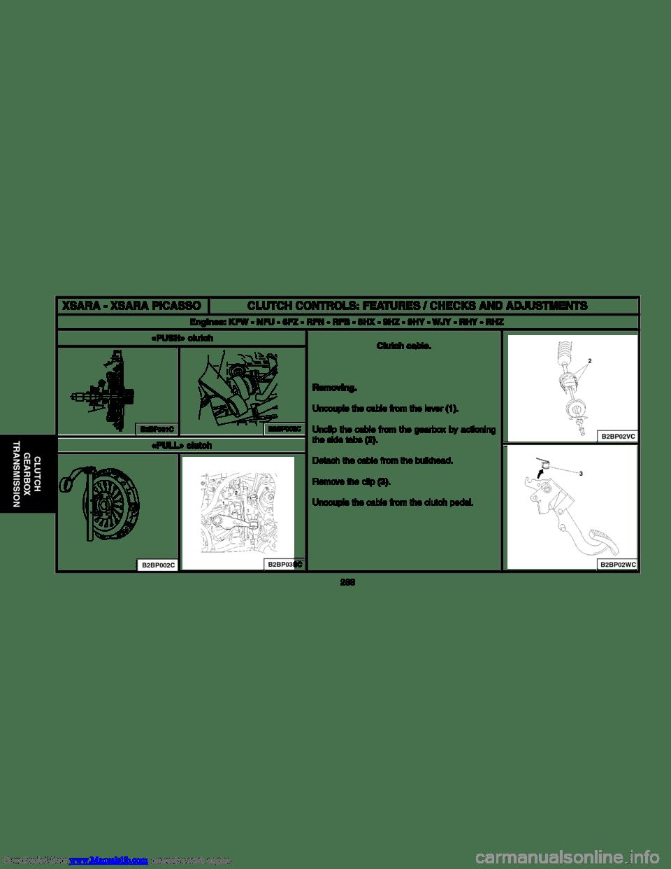 Citroen C3 2004 1.G Workshop Manual (523 Pages), Page 300