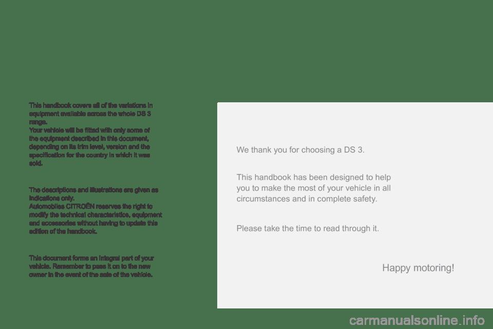 Citroen DS3 2015 1.G Owner's Manual