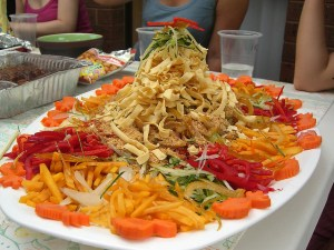 Julia and Alpha's CNY Yee Sang Prosperity Salad